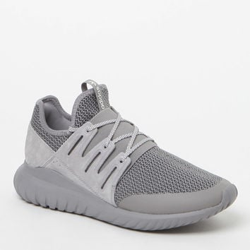 bedd2d240 adidas Tubular Radial Melange Grey and White Shoes at PacSun.com