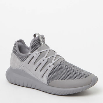 adidas Tubular Radial Melange Grey and White Shoes at PacSun.com