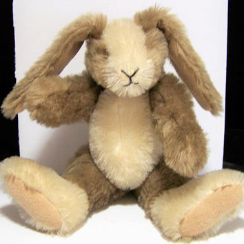 Handmade Jointed Mohair Toy Bunny, Plush Stuffed Rabbit, 10 Inches High, Easter Present 118