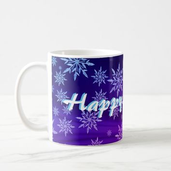 Happy Holidays Snowflake Mug2 Coffee Mug