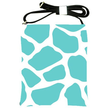 Giraffe Pattern Blue Shoulder Sling Bag