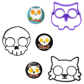 Silicone Egg Mold Cats Skull Owl Shape Baking Accessories Egg Mold Breakfast Fried Eggs Template Kitchen Cooking Gadgets 2018