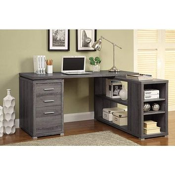 Modern Style Wooden Office Desk, Gray