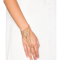 Anarchy Street Boho Handchain in Gold