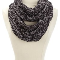 FLORAL HEATHER JERSEY INFINITY SCARF