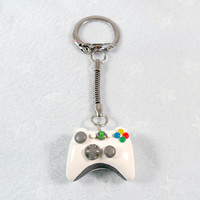 XBOX 360 Controller Keychain, White :D
