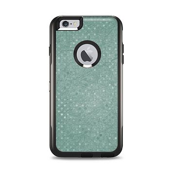 The Small Green Polkadotted Surface Apple iPhone 6 Plus Otterbox Commuter Case Skin Set