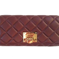 Michael Kors Astrid Leather Carryall Wallet
