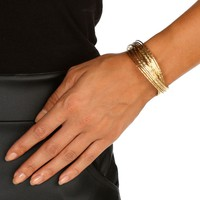 Promo-gold Twisted Bangle Cuff
