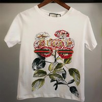 GUCCI Flower Print T-shirt