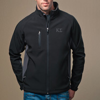 KAPPA SIG BLACK AND GRAY SOFT SHELL JACKET