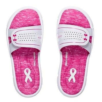 Under Armour Women's UA Ignite Power In Pink VIII Slide Sandals