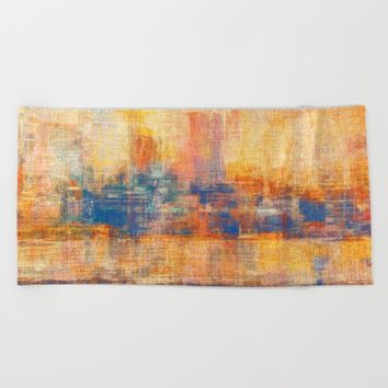 Dawn Yellowish Beach Towel by Fernando Vieira
