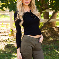 Day By Day Top - Black