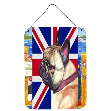 French Bulldog Frenchie with English Union Jack British Flag Wall or Door Hanging Prints LH9601DS1216
