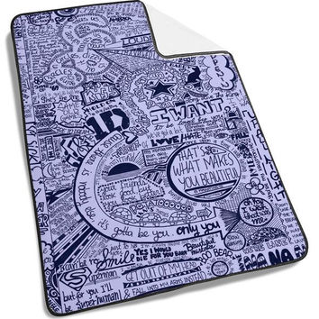 One Direction Lyrics Collage Blanket