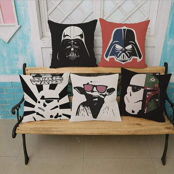 Star Wars Cotton Linen Throw Pillow (not including filling) Back Cushion