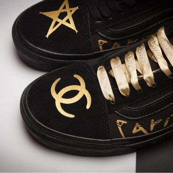 VANS x CHANEL Old Skool Gold/Black Sneaker