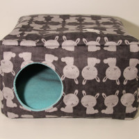 Guinea Pig House Ferret Cube Rat Home Cavy Cozy Hedgehog Hidey Guinea Pig Cage Accessories Small Pet Supplies Flannel Gray Fleece Box