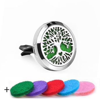 Aromatherapy Stainless Steel Essential Oil Car Diffuser Locket Clip