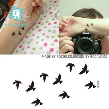 ac PEAPO2Q Rocooart HC1073 Women Sexy Finger Wrist Flash Fake Tattoo Stickers Liberty Small Birds Fly Waterproof Temporary Tattoos Sticker