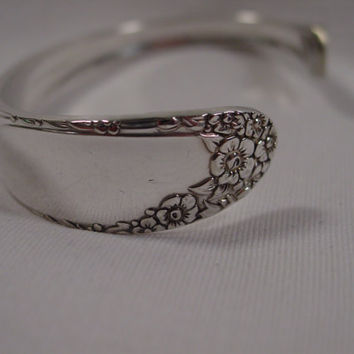 A Spoon Rings Plus Gorgeous Spoon Cuff Bracelet Vintage Spoon and Fork Jewelry c1a