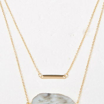 Layered Faux Geode Necklace