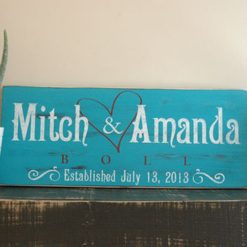 Handmade Family Established Sign, Last Name Sign, Est. Sign, Rustic Wood Sign Finish