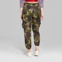 Women's Camo Print Cargo Pants - Wild Fable™ Green