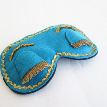 Breakfast at Tiffanys Sleep Mask- Teal Sleep Mask-Audrey Hepburn Sleep Mask-Blindfold-Eye Pillow.