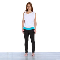 The Flipside Legging {Black/Ocean} **FINAL SALE**