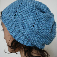 Slouch Hat  Blue Windows Slouch Tam by KnotaGeek on Etsy