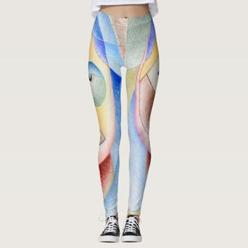 Face with circles in leggings