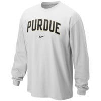 Nike Purdue Boilermakers Classic Arch Long Sleeve T-Shirt - White