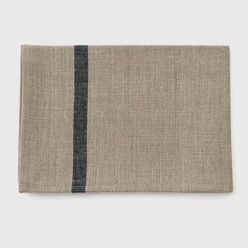Fog Linen Work Thick Kitchen Cloth Natural & Navy Stripe | Set of 2