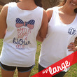 Monogrammed White Boyfriend Bow Tank | Clothing | Marley Lilly