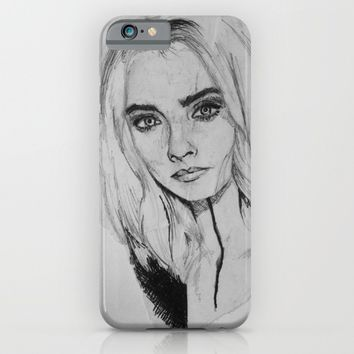 Model Cara Delevingne at London Fashion Week 2016 Show iPhone & iPod Case by Jazula