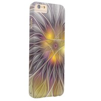 Luminous Colorful Flower, Abstract Modern Fractal Barely There iPhone 6 Plus Case