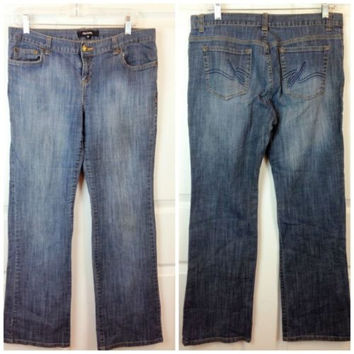 Sz 10 Daisy Fuentes Jeans Cotton Blend Stretch Blue Denim Womens