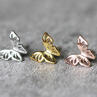 Butterfly Stud Earrings Sterling Silver By Fashnin.com
