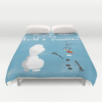 The Snowman (Olaf) Duvet Cover by Anthony Londer | Society6