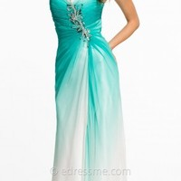 Ombre Strapless With Beaded Center Front Prom Dresses by Dave and Johnny