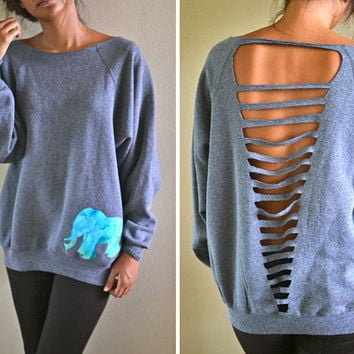 elephant sweatshirts custom orders by caseykaui on Etsy