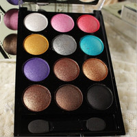 New Arrival Eyeshadow Cosmetics Mineral Make Up 12 different colors Natural Eye Shadow Palette Random delivery BH10086 (Color: Multicolor)
