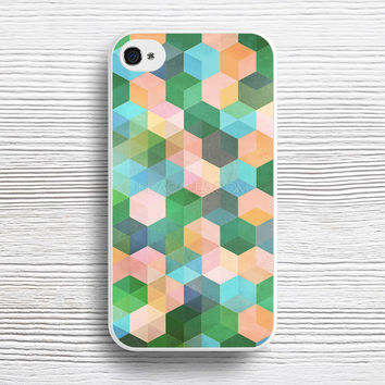 Child's Play - hexagon pattern in mint green, pink, peach & aqua case iPhone 4s 5s 5c 6s 6 Plus Cases, Samsung Case, iPod 4 5 6 case, HTC case, Sony Xperia case, LG case, Nexus case, iPad case