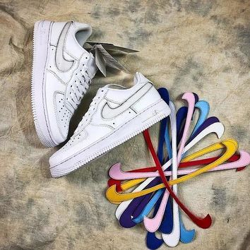Nike Air Force 1 Low Af1 Travis Scott Velcro Swap Design Shoes Sale