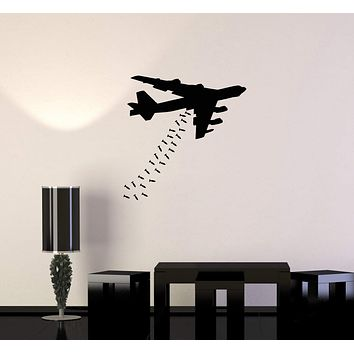 Vinyl Wall Decal Airplane Bomber War Aviation Teen Room Interior Stickers Mural (ig5910)