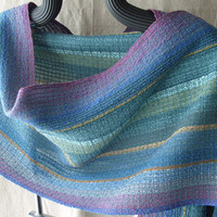 Handwoven Shawl, Woven Scarf, Wrap, Spring Morning