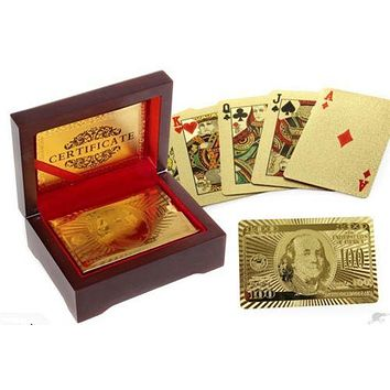 24K Gold Foil Poker playing cards  Poker Casino Vegas Cards