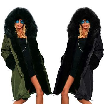 Fabulous Winter Jackets and Coats, Large Fur Hoods and Lapels Wadded Cotton-padded Jacket
